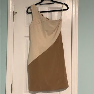 Cream and brown dress new with tags size small